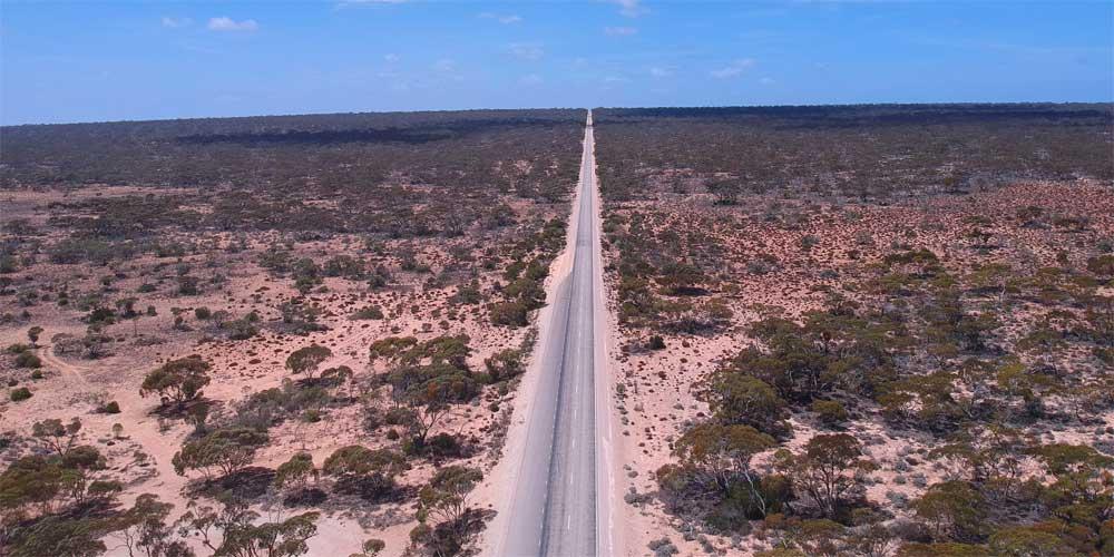 Landstraße Nullarbor Australien
