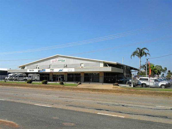 Depot von Apollo Motorways in Darwin, Australien