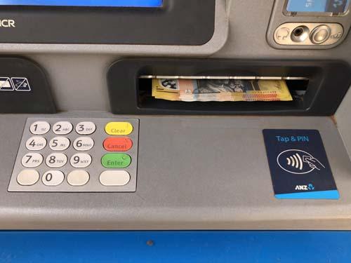 Geldautomat in Australien