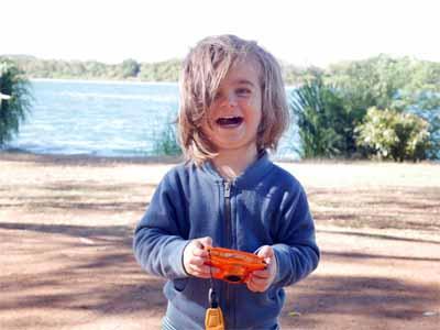 Gefällt: Jona mit der Nikon Coolpix W150 auf dem Campigplatz in Kununurra Australien ©MCA