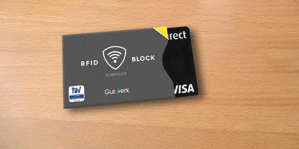 Kreditkarten Hülle mit RFID Blocking
