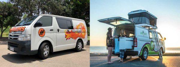 Minivan-Camper in Australien