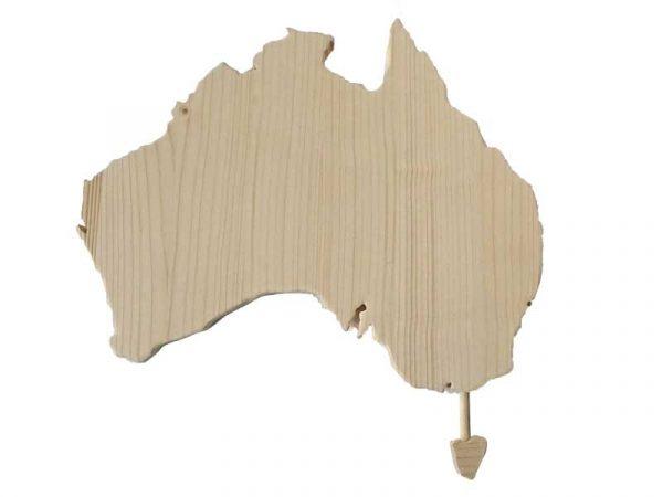 Australien Wanddeko Naturholz