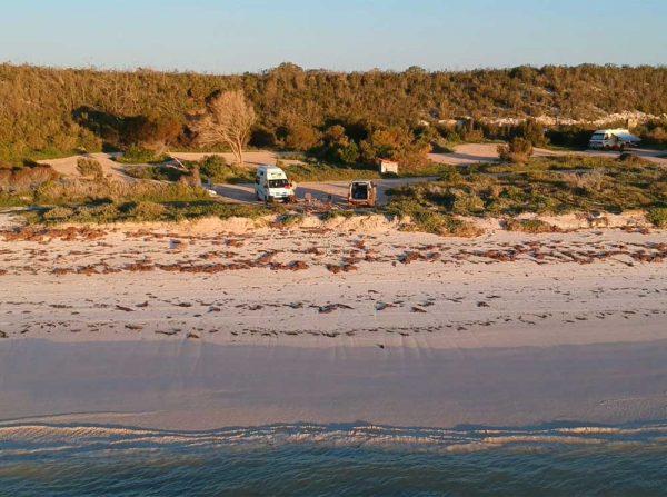 Parkplatz am Ocean Drive in Western Australia