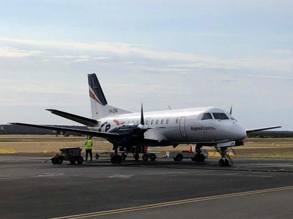 Flugzeug der REX Airline Australien
