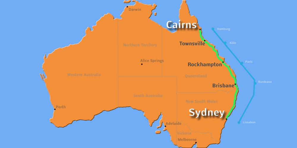 Von Sydney nach Cairns