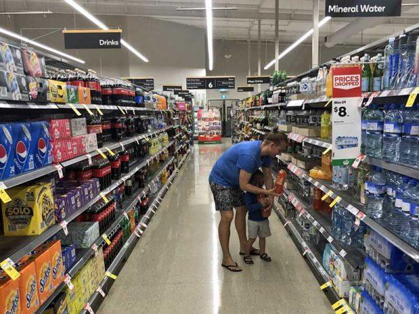 Supermarkt einkaufen in Australien