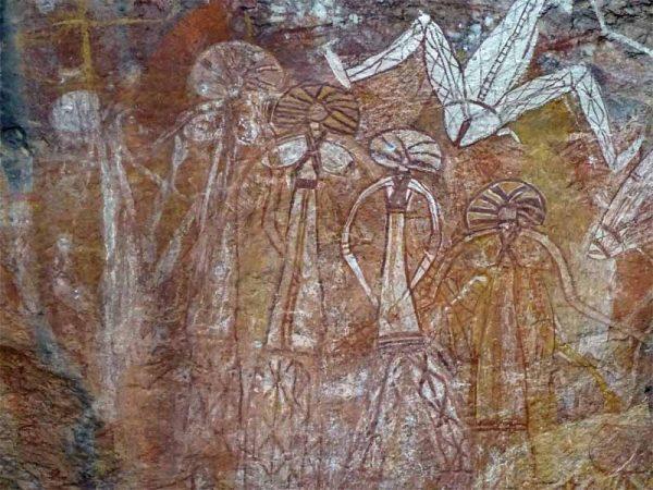 Wandmalerei 3 / Ubirr Rock Art Site im Kakadu Nationalpark, Australien
