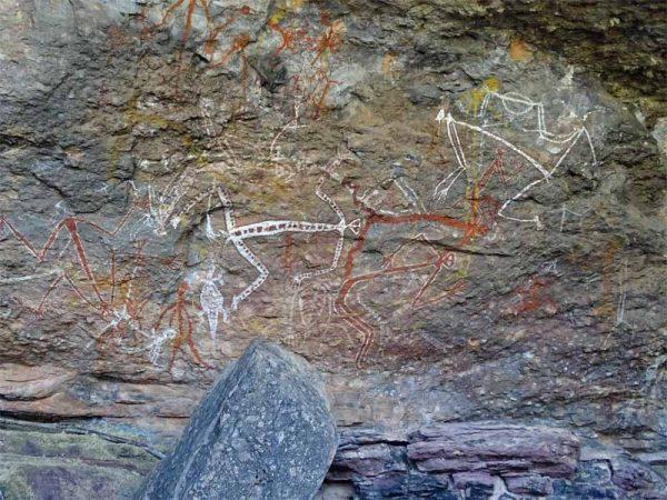 Wandmalerei 1 / Ubirr Rock Art Site im Kakadu Nationalpark, Australien