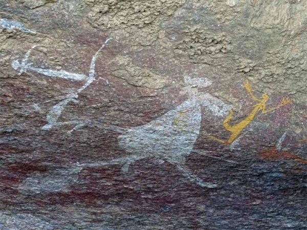 Wandmalerei 2 / Ubirr Rock Art Site im Kakadu Nationalpark, Australien