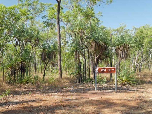 Wegweiser Lost City im Litchfield National Park