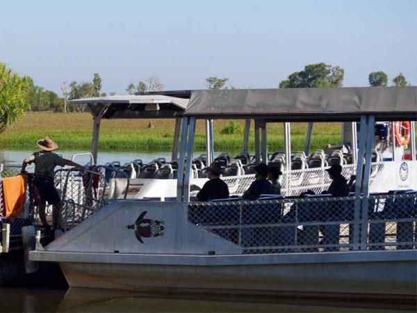 Die Boote der Yellow Water Cruise