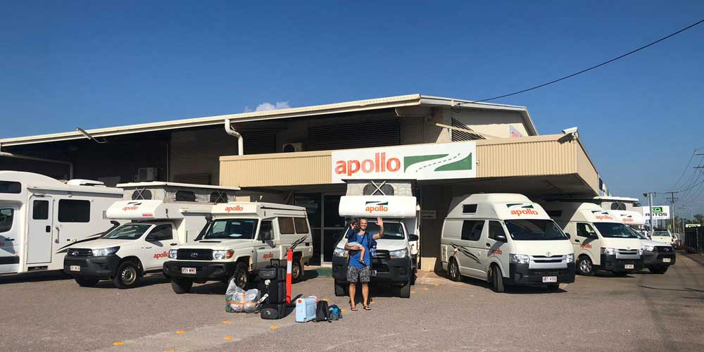Der Camper-PickUp in Darwin