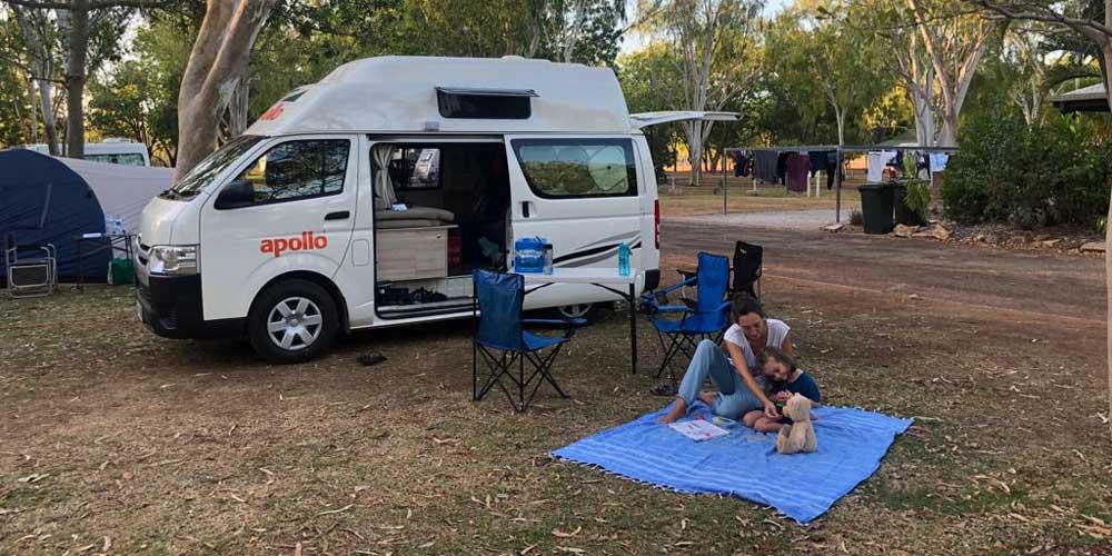 Auf einem Campingplatz in Australien
