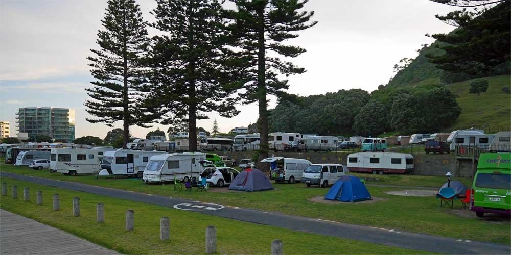 Campingplatz Mount Maunganui in Neuseeland