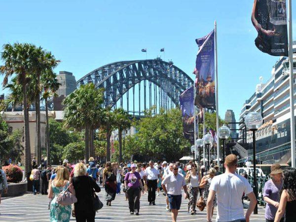 Besucher in Sydney, Australien