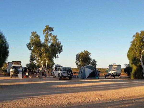 Nachbarn auf dem Campingplatz in Australien