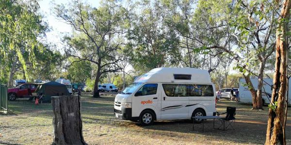 Campingplatz in einem Nationalpark in Australien