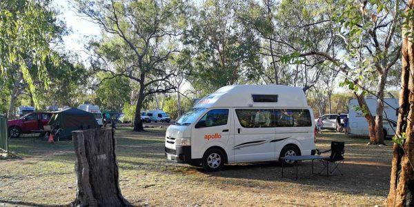 Campingplatz für die Nacht in Australien