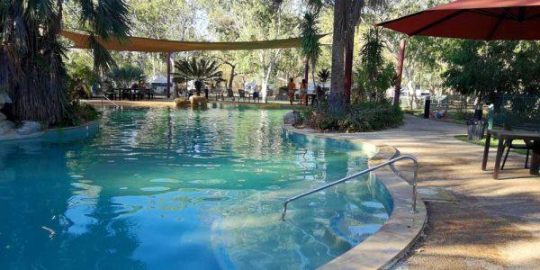 Pool auf einem Campingplatz in Australien