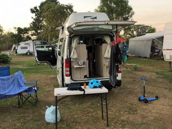 Der Camper im Darwin Discovery Park