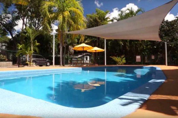 Der Pool auf dem Discovery Park Darwin
