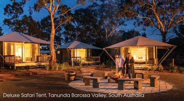 Glamping im Discovery Park in Tanunda im Barossa Valley, South Australia
