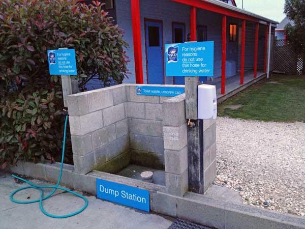 Abwasser Station auf einem Campingplatz