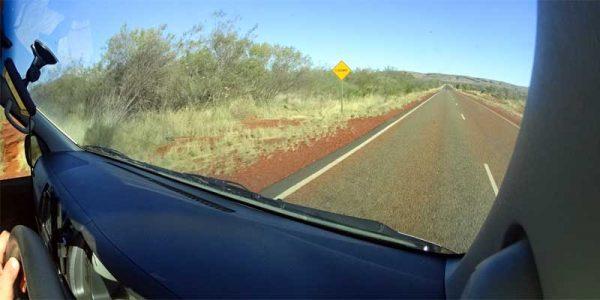 Landstraße in Australien