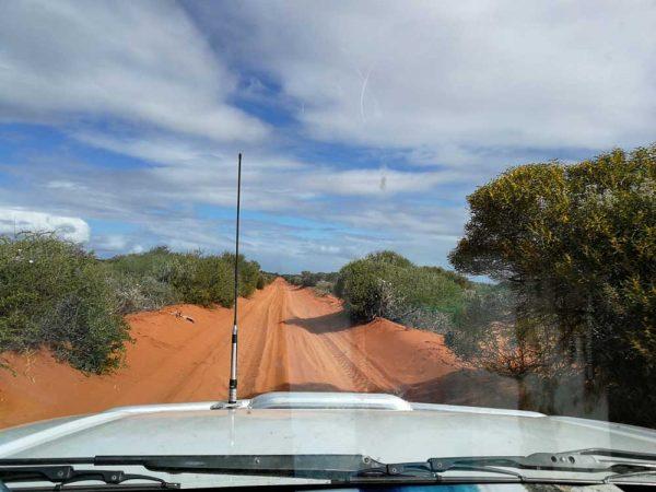 Fahrt durch den Francois Peron Nationalpark Western Australia, Australien