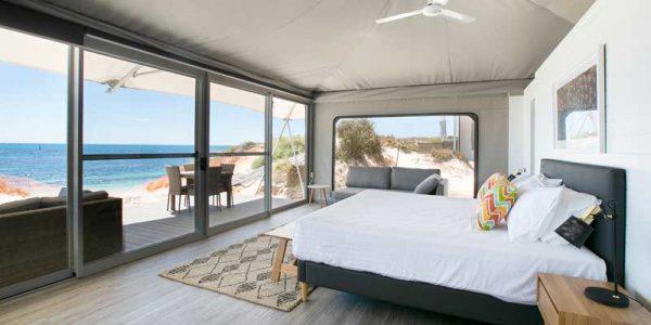 Glamping im Deluxe Zelt auf Rottnest Island in Westaustralien