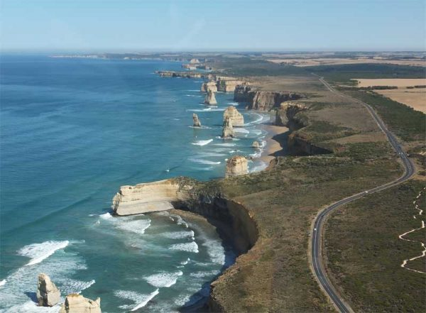 Die Great Ocean Road bei den 12 Apostles