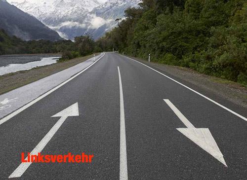 Linksverkehr in Australien und Neuseeland