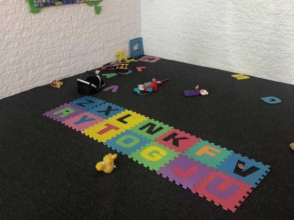 Kinder Spielecke im Vermieter Depots