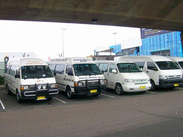 Shuttle Bus am Flughafen in Australien