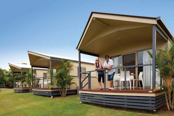 Premium Cabin auf einem Campingplatz in Australien