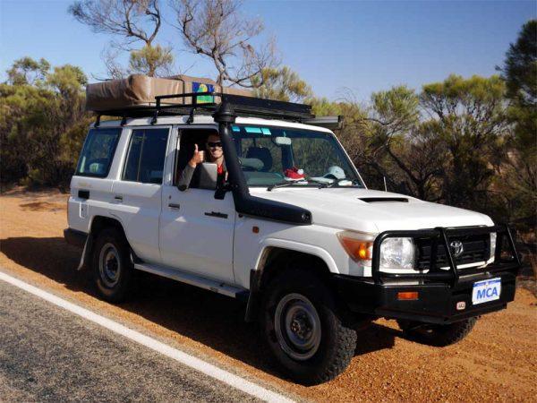 Sören unterwegs für MietCamper Australien