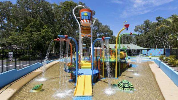 Spielplatz in Australien im Emerald Discovery Park, Australien