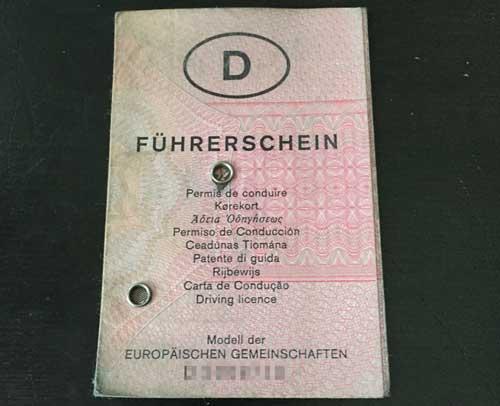 Der rosa Führerschein