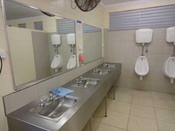 Waschräume auf Campingplätzen