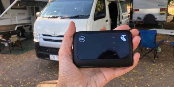 WiFi Box auf dem Campingplatz in Australien