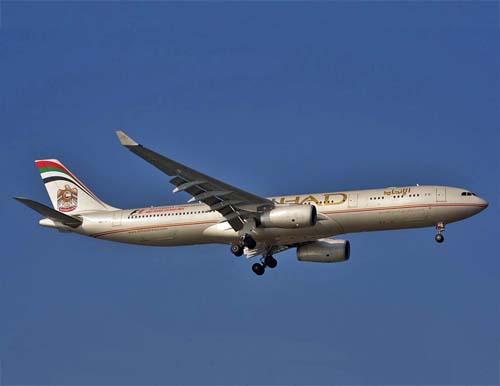 Flugzeug von Etihad Airways