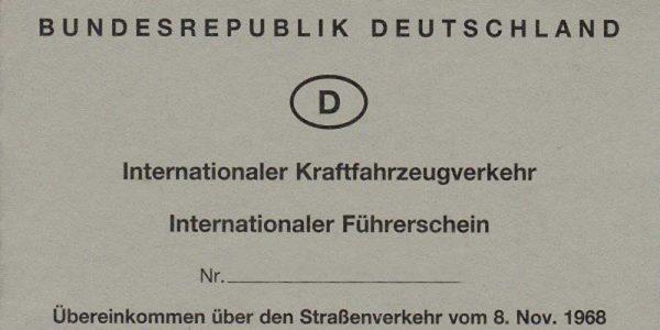 In Deutschland ausgestellter Internationaler Führerschein