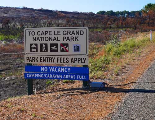 Campingplatz im Cape Le Grand Nationalpark