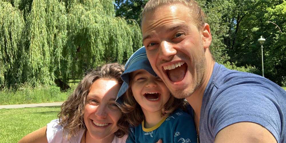 Saskia, Sören und Jona vor der Reise nach Australien
