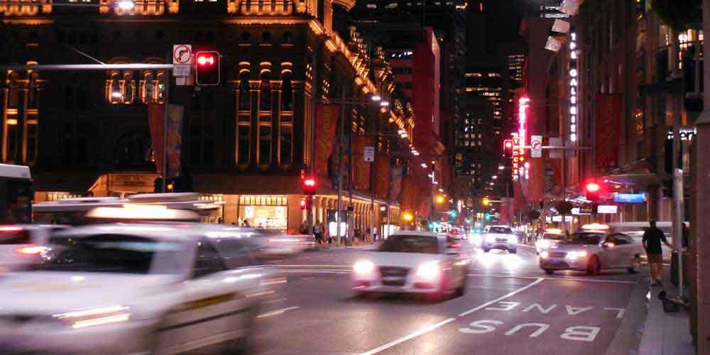 Abendverkehr in Sydney