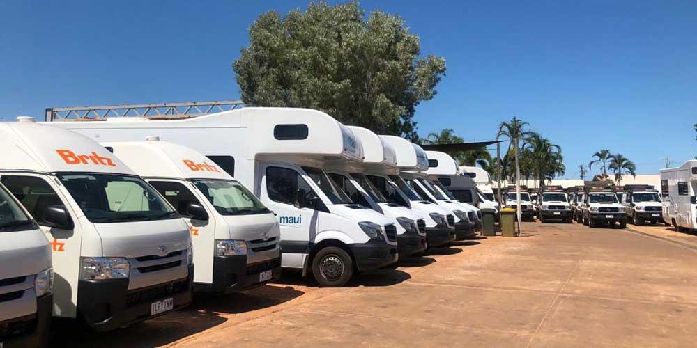 Depot für Camper in Australien